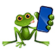 Illustration of a Green Frog Sitting with a Smartphone - GraphicRiver Item for Sale