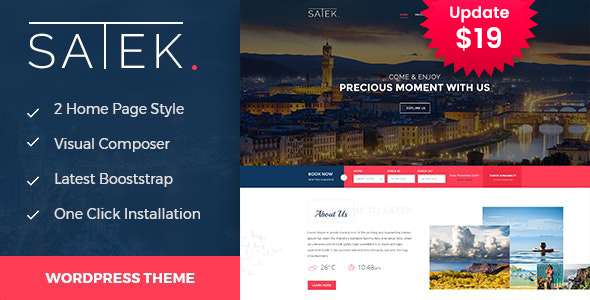 Satek : Resort and Hotel WordPress Theme