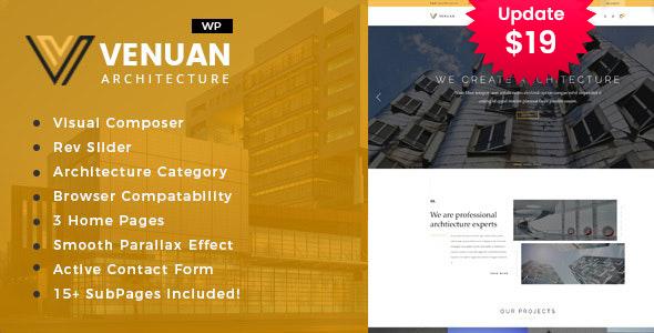Venuan - Architecture Design WordPress Theme
