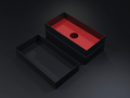 Black blank cardboard box on a dark background. Mock up template. - PhotoDune Item for Sale
