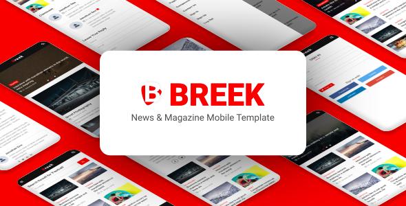 Breek - News & Magazine Mobile Template