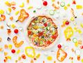 vegan pizza on white - PhotoDune Item for Sale
