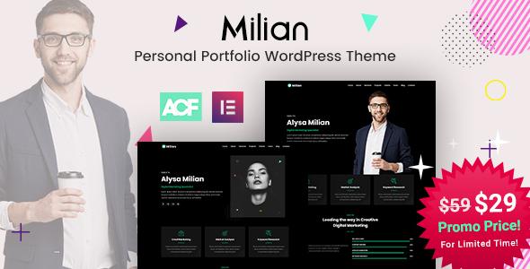 Milian - Personal Portfolio WordPress Theme
