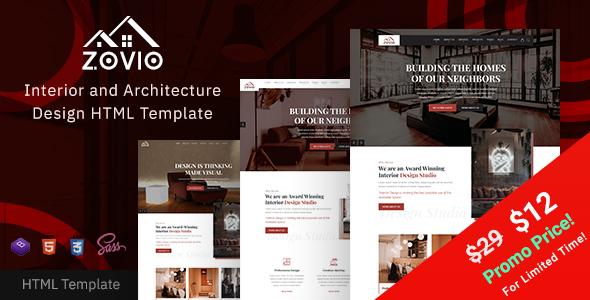 Zovio - Interior Design & Architecture HTML Template