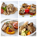 Various French meals on plates - PhotoDune Item for Sale