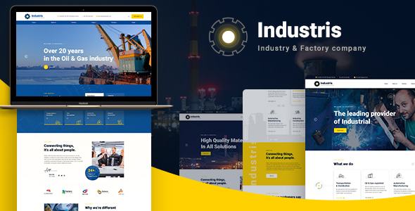 Industris - Factory & Business WordPress Theme