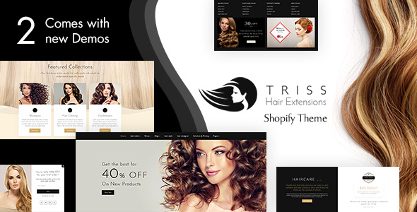 Triss - Hair Extension, Beauty Salon Shopify Theme