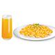 Pasta and Orange Juice - GraphicRiver Item for Sale