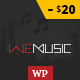 WeMusic - Music Band Event WordPress Theme