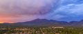 Mount Humphreys at sunset overlooks the area around Flagstaff Arizona - PhotoDune Item for Sale