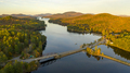 Sunset over Highway 30 Crossing Long Lake at Adirondacks Park Upstate NY - PhotoDune Item for Sale