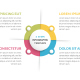 Circle Infographics with Four Elements - GraphicRiver Item for Sale