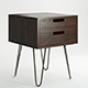 Vintage Mid Century Style Industrial Side Table - 3DOcean Item for Sale