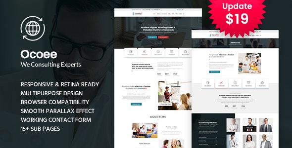 Ocoee - Consulting & Business WordPress Theme