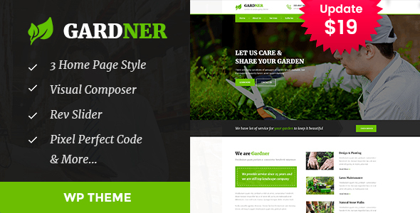 Gardener - Gardening, Lawn and Landscaping WordPress Theme