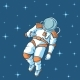 Spaceman with Stars - GraphicRiver Item for Sale