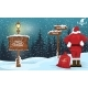 Santa Claus Looking at a Arrow with Winter - GraphicRiver Item for Sale
