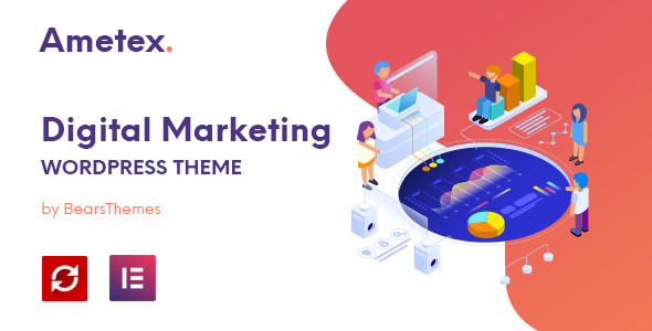 Ametex - Digital Marketing and SEO WordPress Themes
