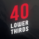 40 Lower Thirds Skew - VideoHive Item for Sale