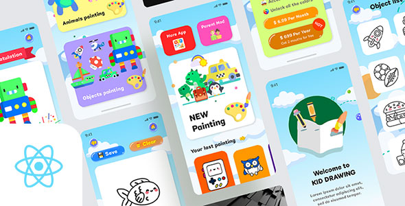 Kids Draws - React Native App Download