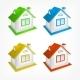 Small Village House Set Vector Illustration - GraphicRiver Item for Sale