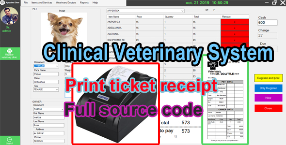 Veterinary Clinic System - C# MySQL