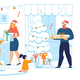 Christmas Celebration Family Tradition Flat Vector - GraphicRiver Item for Sale