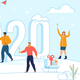 New Year Celebration Flat Vector Concept - GraphicRiver Item for Sale