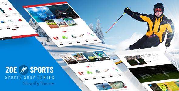 Zoe - Sports Store Shopify Theme