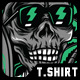 Skull Holiday T-Shirt Design - GraphicRiver Item for Sale