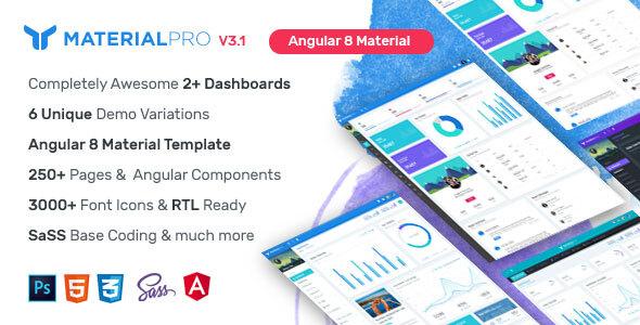 MaterialPro Angular 8 Admin Template