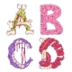 Zombie Cartoon Letters A, B,C, D - GraphicRiver Item for Sale