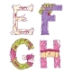 Zombie Cartoon Letters E, F, G, H - GraphicRiver Item for Sale