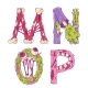 Zombie Cartoon Letters M, N, O, P - GraphicRiver Item for Sale