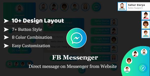 FB Messenger - Direct Message on Facebook Messenger From website HTML Plugin