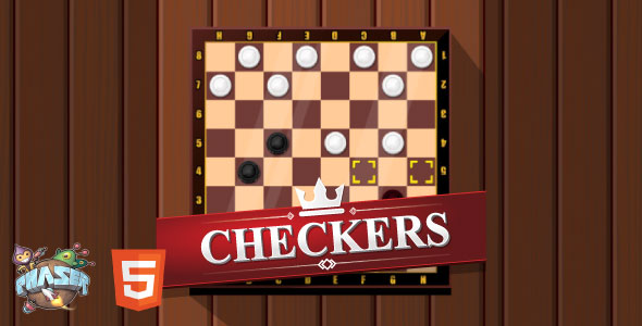 Checkers - HTML5 Game (Phaser 3) Download