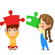 Kids Connect Puzzle - GraphicRiver Item for Sale