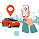 Connected Car Parking Sharing Service Remote Controlled Via Smartphone App - GraphicRiver Item for Sale