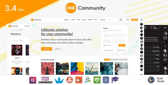 OneCommunity - BuddyPress Nouveau Membership Theme