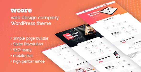 wCore - Web Design Agency WordPress Theme
