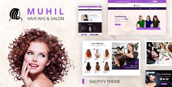 Muhil | Hair Wig and Hair Extension, Hairdresser Shopify Theme