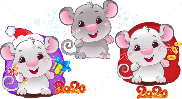 White Rat - Symbol of Chinese Horoscope for New Year