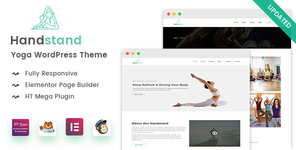 Handstand - Yoga WordPress Theme