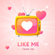 Like Me Thanks You Social Media Concept - GraphicRiver Item for Sale