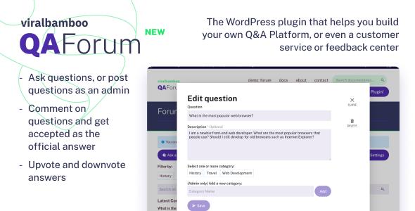 QaForum - WordPress Question & Answers Forum Plugin