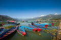 Boats at Fewa Lake, Pokhara - PhotoDune Item for Sale