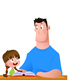 Father and Daughter Spend Time Reading a Book - GraphicRiver Item for Sale