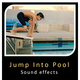 Jump into Pool and Swimming Sounds