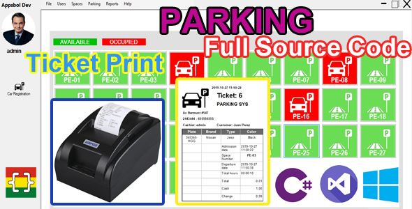 Parking Administration System - C# MySQL