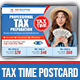 Tax Time Postcard Template - GraphicRiver Item for Sale